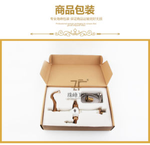 New Design Ceramic Double Handle Antique Basin Faucet (Zf-604-1) pictures & photos