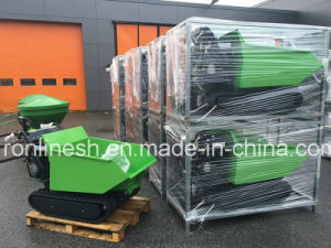 Hydraulic 9HP Engine Power, 500kgs Rubber Track Mini Dumper/Power Barrow/Muck Truck/Garden Transporter/Loader/Wheel Brrow/Mini Transporter C pictures & photos