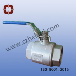 Stainless Steel 2PC Full Port 2000wog Ball Valve pictures & photos