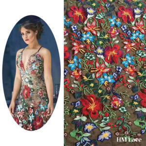 Latest Flower French Lace Wedding Dress Fabric Erflies