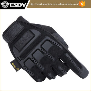 2 Colors Outdoor Shooting Hunting Tactical Riding Camouflage Protective Gloves pictures & photos