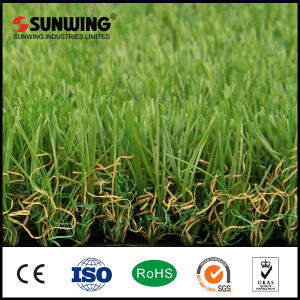 Anti-UV Green PPE Garden Used Artificial Grass Lawn