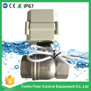 "2"" Electric Control Stainless Steel Water Ball Valve Motorized Ball Valve (A100-T50-S2-C) pictures & photos"
