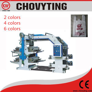 Automatic Plastic Film Roll Printing Machine 2/4/6 Colors pictures & photos