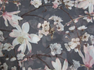 Printed Polyester Imitation Silk Fabric for Skirt pictures & photos