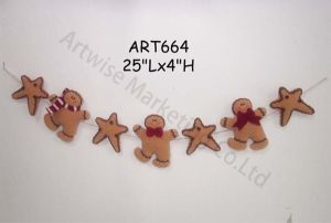 Fleece Christmas Party Decoration Garland Gingerbread pictures & photos