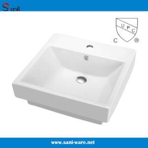 Top Sale Vitreous Porcelain Semi Recessed Bathroom Sink (SN121-120)