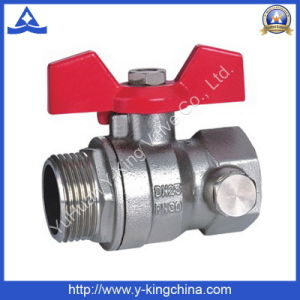 Aluminum Handle Threaded Brass Ball Valve (YD-1006) pictures & photos