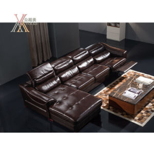 Leather Electric Sofa with Corner (830)