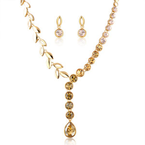 China Wholesale Fashion Jewellery African Gold Necklace Wedding