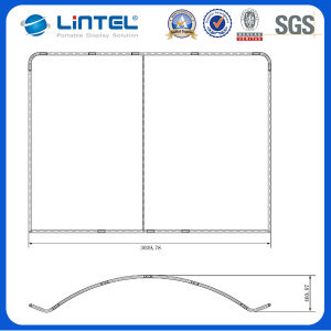 6FT Curved Aluminum Fabric Banner Stand (LT-24) pictures & photos