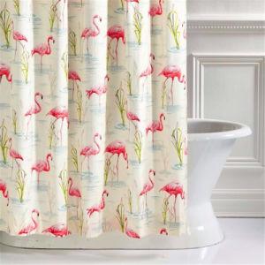 Cranes PEVA Waterproof Shower Curtain For Bathroom