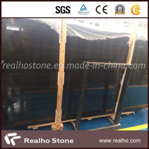 High Polished Black Marble Black Wood Marble for Floor