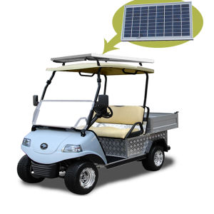 Solar Panel Golf Cart with Cargo Truck Del3022gh pictures & photos
