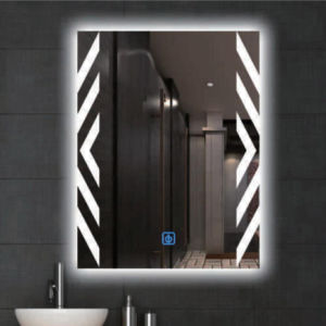 Modern Glass Mirror Silver High Quality Wall Mounted Lighted LED Bathroom Illuminated Home Mirror