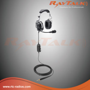 Ground Support Headset with Flexible Boom Microphone for Airport Staff pictures & photos