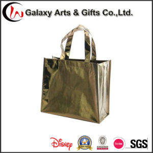 Colorful OEM Women Laser Film Laminated Non Woven Shopping Tote Bag