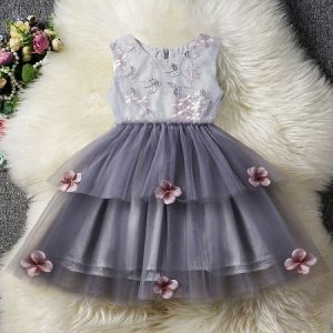 Girl Dress Kids Girl Ruffles Lace Party Wedding Dresses