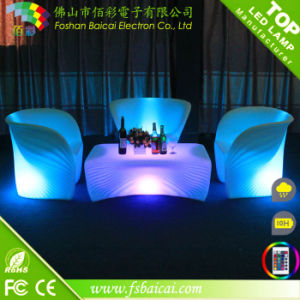 Luxury Luminous Rotational Molding LED Bar Furniture Set
