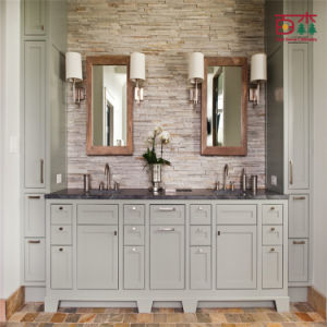 Chinese Factory Solid Wood Custom Bathroom Cabinet pictures & photos
