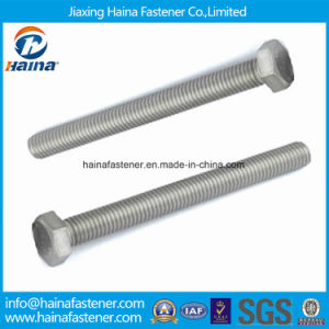 A2 A4 Stainless Steel DIN933 DIN931 ASME Heavy Hexagon Bolt with Nut ISO Certificated pictures & photos