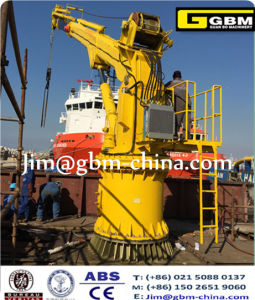 Marine Luffing Crane Electric Hydraulic 1t31m Knuckle Telescopic Boom Ship Deck Crane pictures & photos