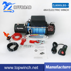 Electric Recovery Winch Synthetic Rope Winch 8000lbs 12V/24V