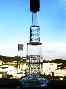 15 Inch 6 Ice Catcher 7mm Thickness Glass Water Pipe