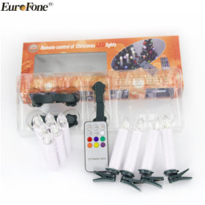 Set 10 RGB Color Light Color-Changing LED Christmas Candle pictures & photos