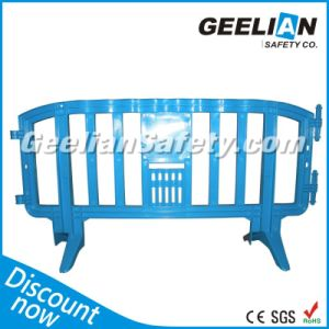 2000mm Plastic Barrier Traffic Fence, HDPE Road Safety Barriers Blue Fence Barrier