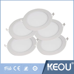 ISO Factory Daylight Cool White Warm Round White Panel LED Light 18W pictures & photos