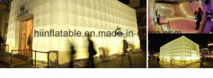 High Quality Giant Inflatable Event Tent / Inflatable Cube Tent, Party Tent with LED