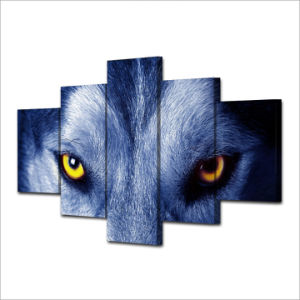 HD Printed Wolf Eyes Group Painting Canvas Print Room Decor Print Poster Picture Canvas Mc-016 pictures & photos