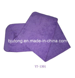 100% Cotton Purple Velour Sports Towel as Yt-1301 pictures & photos