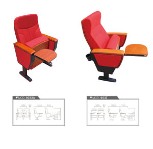Modern Public Chair Cinema Movie Waiting Seating Theater Auditorium Chair with Writing Board Fsc Certified Approved by SGS pictures & photos