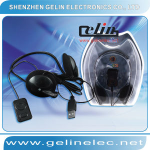 Bluetooth Headset Earphone With Microphone Black for PS3