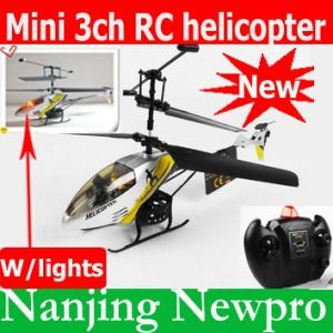 New Model 18cm Mini 3 CH RC Helicopter, R/C Toy, Airplane Radio Control  Plane With Flashlights (FPM-7977)