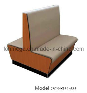 Restaurant Cafe Furniture Wooden Double Sides Booth (FOH-XM34-636) pictures & photos