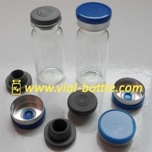 10ml Serum Vial Bottle with 20mm Flip off Tops in Blue and Stopper pictures & photos