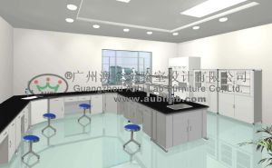 Lab Table in Chemistry Laboratory