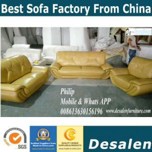 High Quality Top Grain Modern Genuine Leather Sofa (C06) pictures & photos