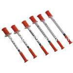 0.3ml 0.5ml 1ml Disposable Sterile Insulin Syringes with Fixed Needles
