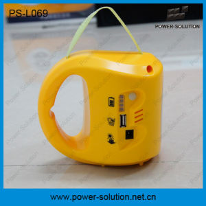 Power Solution Qualified 4500mAh/6V Solar LED Camping Lantern with Cell Phone Charger pictures & photos