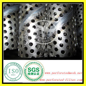 Stainless Steel Spiral Welded Perforated Metal Pipe (HLX-019)