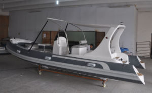 Liya 20FT Hypalon Boat with Ce Certification Fiberglass Hull Rigid Inflatable Boat pictures & photos