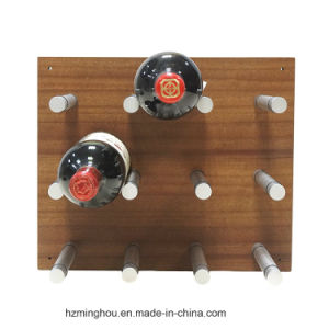 China Aluminum Wall Mounted Wine Rack Rod Pegs With Wood