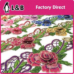 Elegant 3 D Embroidery Flower Lace pictures & photos