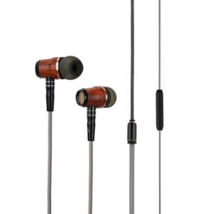 Hi-Fi Deep Bass in-Ear Huanghauli Wooden Earbuds Handsfree Headset