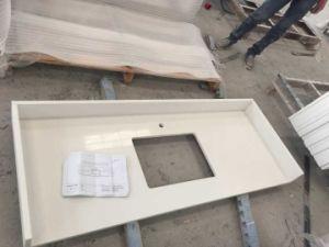 Quartz Bathroom Vanity Top With White Solid Wood Cabinet
