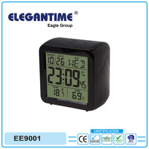 Original Design Big Digital Display with Thermometer and Hygrometer Calendar Clock pictures & photos